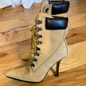 Steve Madden Hijo stillettto workboot. 6